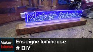 #DIY Enseigne lumineuse
