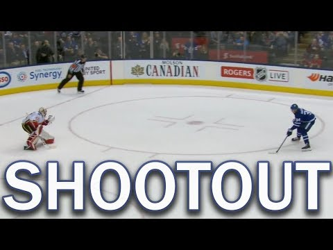 Full Shootout - Calgary Flames vs Toronto Maple Leafs - 12/06/2017