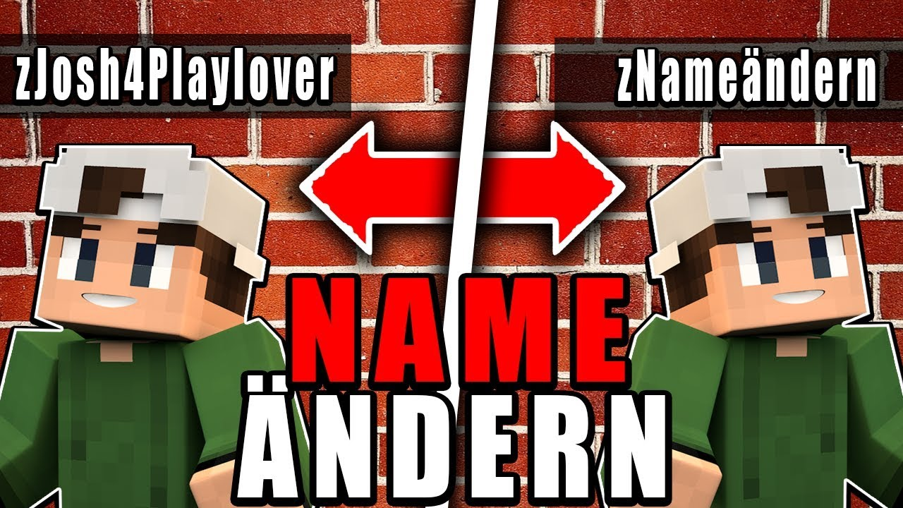 Minecraft Namen ändern Minecraft Namen ändern TutorialMC Name - Minecraft name andern deutsch