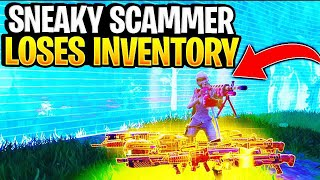 Insanely Sneaky Scammer Gets Scammed For His Whole Inventory! In Fortnite Save The World