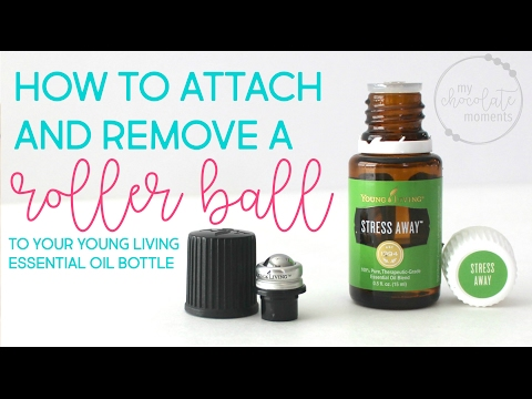 How to attach and remove a roller ball to a Young Living essential oil bottle