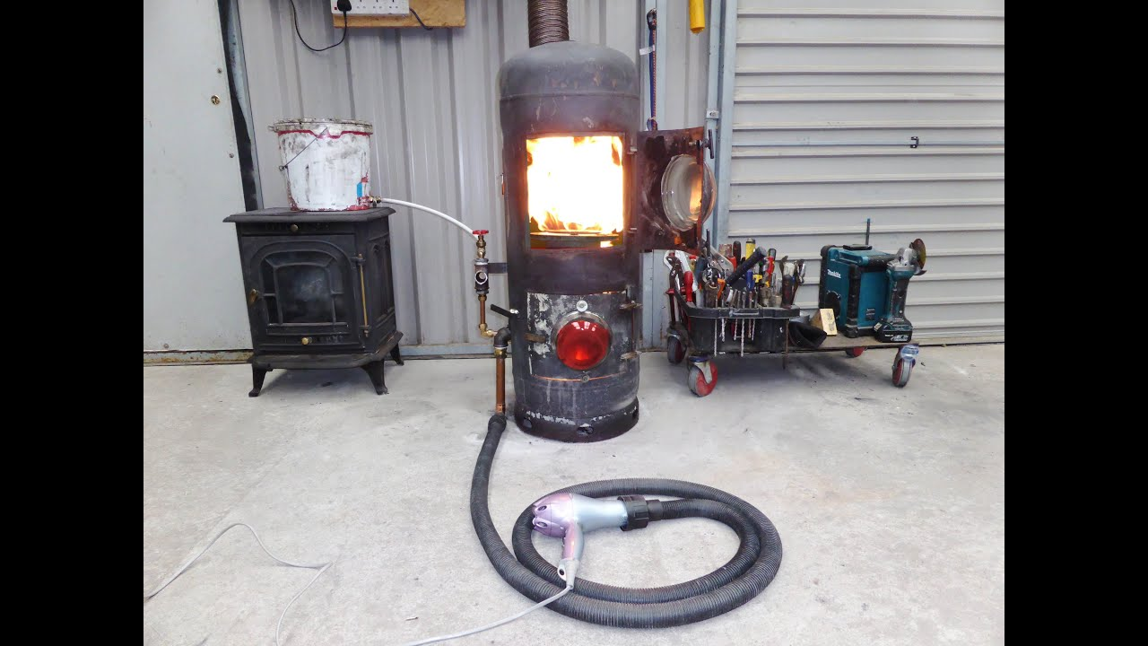 Propane Radiant Heater >> Hairdryer Powered Waste oil Heater - YouTube