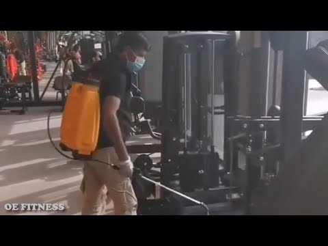 He Was Sanitizing The Gym Equipment