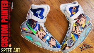 Full Custom Street Fighter Nike Air Mags w/ Photoshop Speed Art by Sierato