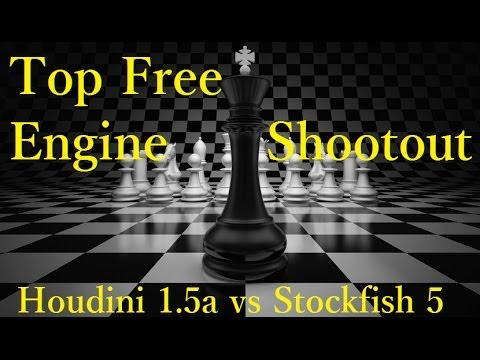 Houdini 1.5a vs Stockfish 5 Top Free Engine Shootout