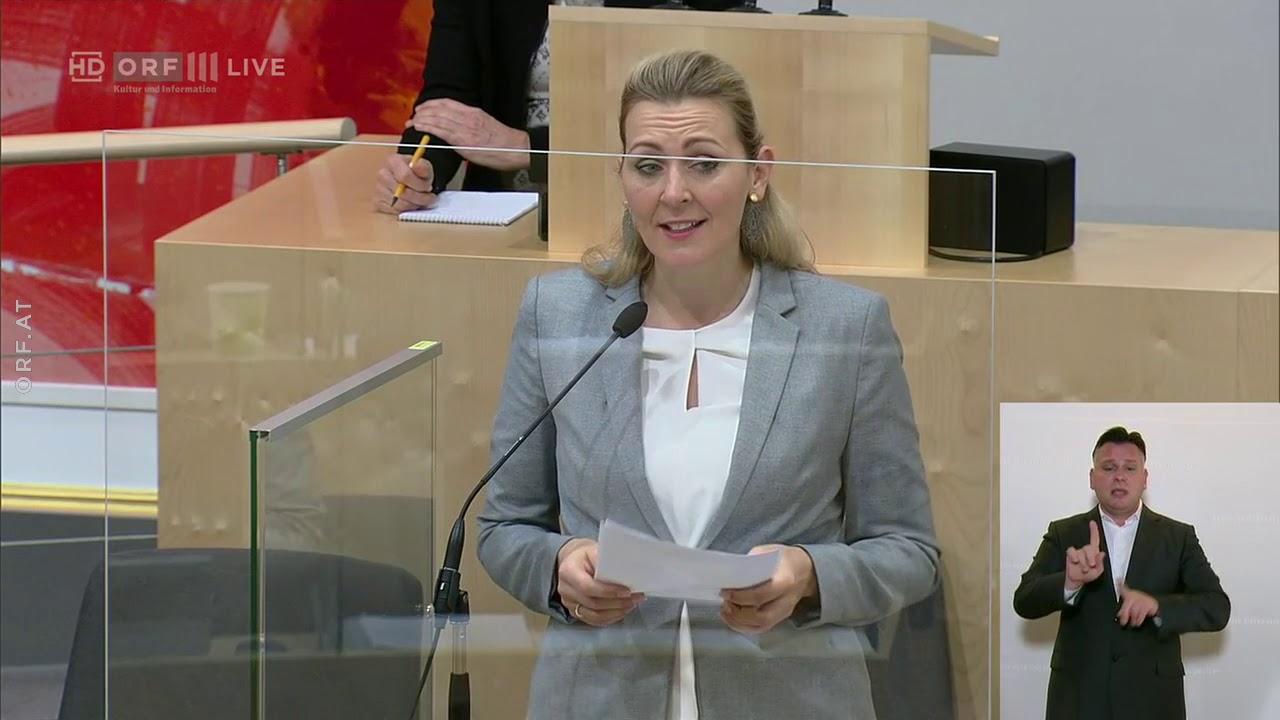 042 Bundesministerin Fur Arbeit Familie Und Jugend Christine Aschbacher Ovp Nationalratssitzung V Youtube