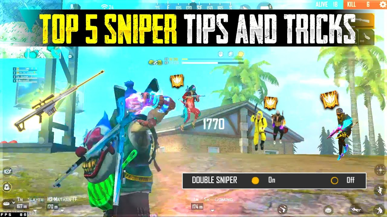 TOP 4 SNIPER TIPS AND TRICKS    TAMIL FREE FIRE TRICKS