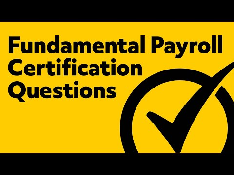 Fundamental Payroll Certification Study Guide Questions