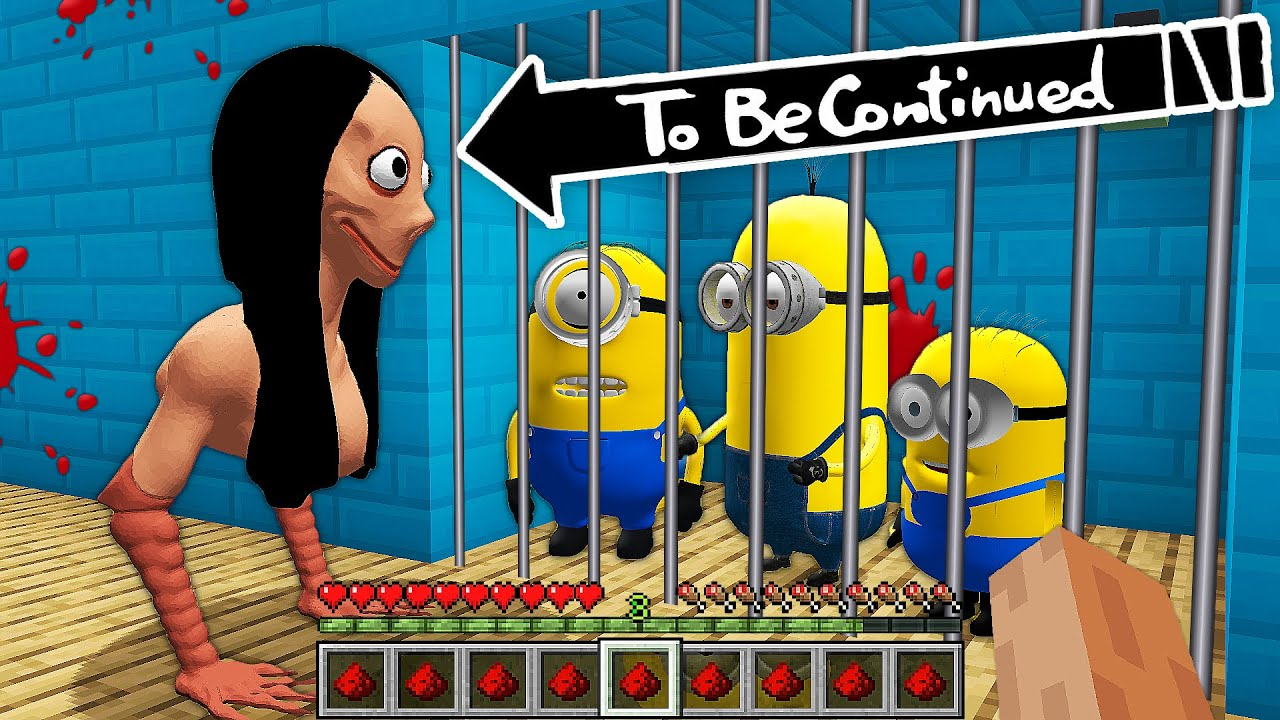 HOW MINIONS ESCAPED FROM MOMO's CAGE in MINECRAFT! - Gameplay Movie traps