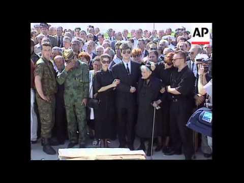 SERBIA: BELGRADE: MLADIC ATTENDS FUNERAL OF BOSNIAN SERB GENERAL