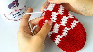 كروشية لكلوك / سليبر / جوارب بغرزة الزجزاج ولأى مقاس -crochet easy slipper#يويو كروشية#