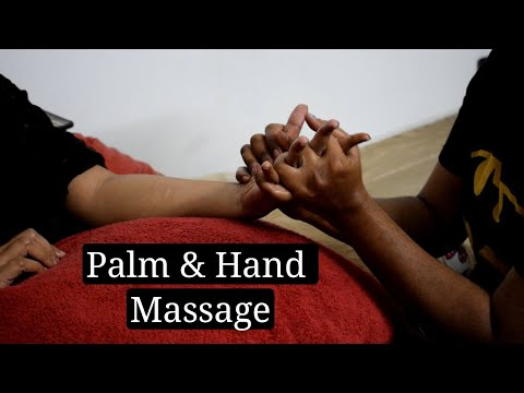 ASMR | Relaxing Palm And Hand Massage - Indian Barber