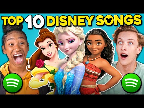 Teens React To Top 10 Disney Songs On Spotify