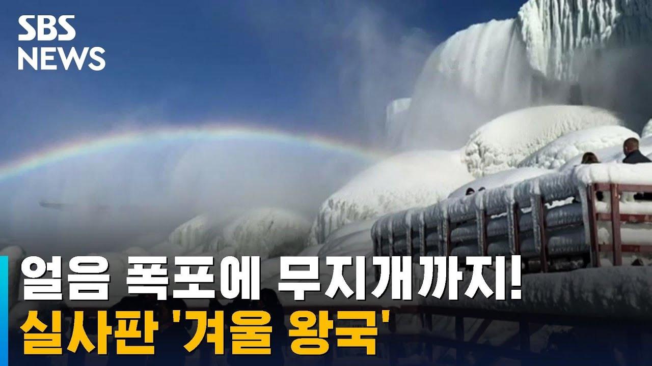 나이아가라도 꽁꽁 얼었다…한파가 연출한 '겨울왕국' / SBS