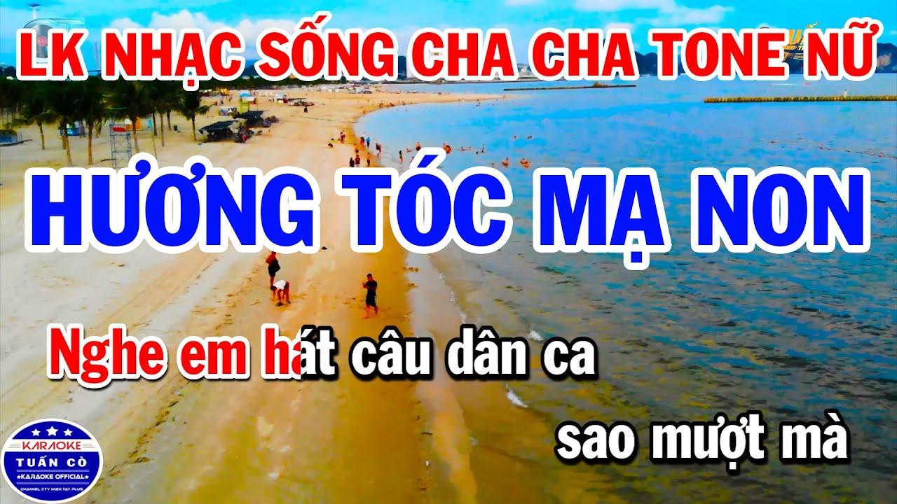 Download Karaoke Liên Khúc Nhạc Sống Cha Cha Tone Nữ | Hương Tóc Mạ Non | Hình Bóng Quê Nhà