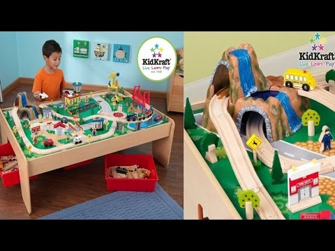 KidKraft Waterfall Mountain Train Set and Table For Children\'s ...