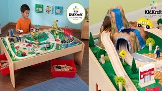 Kidkraft Waterfall Mountain Train Set And Table For Children's Creativity And Imaginative Play