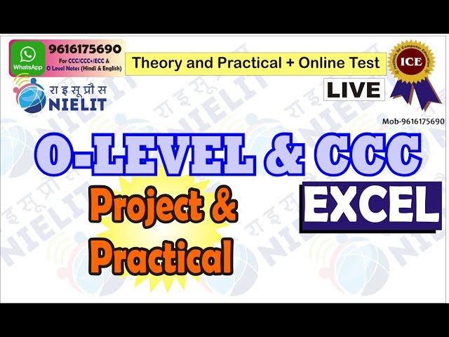 O LEVEL (Practical & Project) + MS Excel