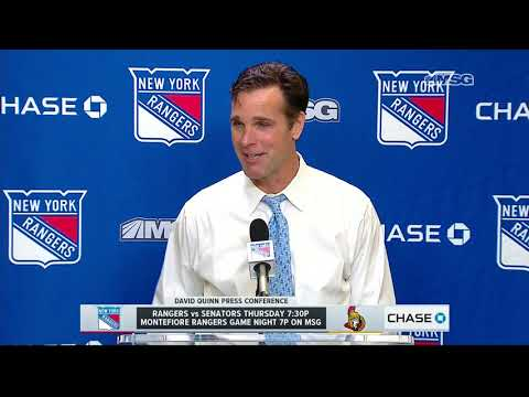 David Quinn Reacts To Rangers Victory Over Senators | New York Rangers Post Game