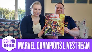 Playthrough of Marvel Champions - Justice Black Widow & Aggression Ms. Marvel vs Expert Rhino