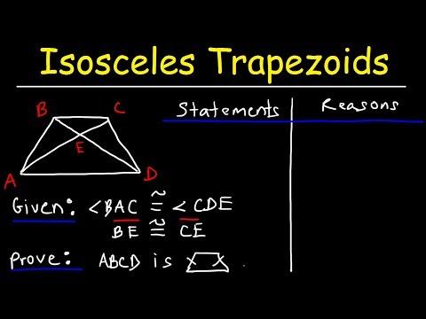 Two Column Proofs - Proving Isosceles Trapezoids - Geometry