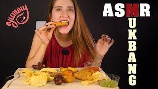Asmr MUKBANG. Comida callejera super crujiente! ASMR español | Asmr with Sasha