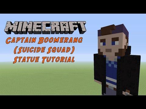 Minecraft Tutorial: Captain Boomerang (Suicide Squad) Statue