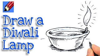 Learn how to draw a Diwali Dyas Lamp real easy for kids and beginners