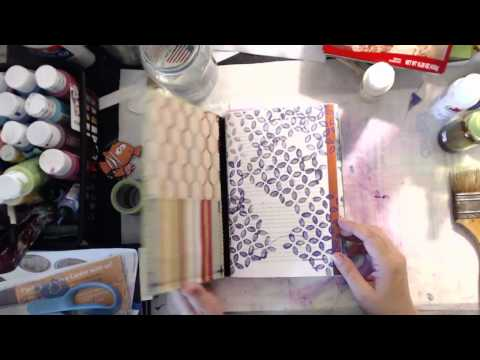 Paint your junk Mail Pt 2..... and make your Junk Journal signatures (live stream recorded)