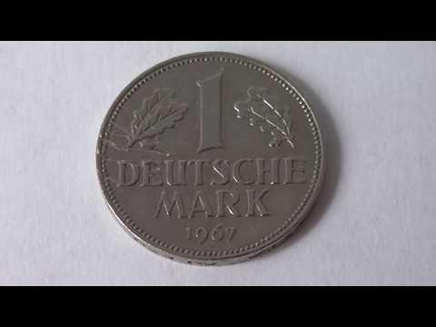 1 Deutsche Mark Germany 1967 D   Amazing Coin