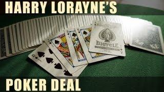 """ロレイン・ポーカー・ディール ハリー・ロレイン """"Lorayne's Poker Deal"""" by Harry Lorayne"""