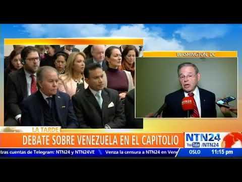 """""""No debemos tener ninguna participación militar"""": Bob Menéndez"""