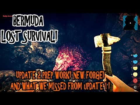 Bermuda Lost Survival - E4 - Prep for Update 2!?!? Forge! & We Missed a Lot!