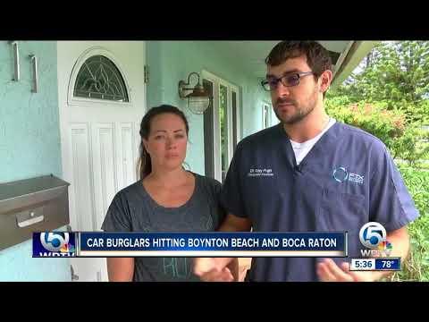 Boynton Beach police investigate more than a dozen car burglaries and several car thefts