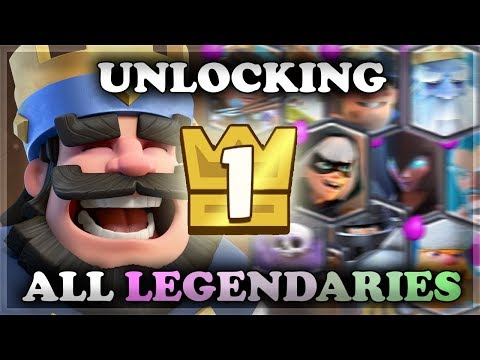 Level 1 Account Unlocking ALL Legendaries with King Chests | Clash Royale 🍊