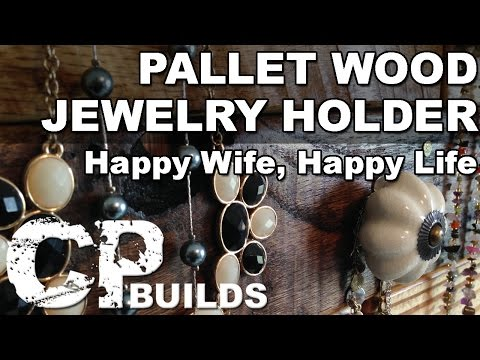 Pallet Wood To Jewelry Holder Project // Woodworking How-To