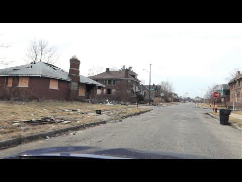 DETROIT'S  WORST EAST SIDE AREA / SNOW FINALLY MELTS