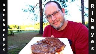ButcherBox Ribeye Steaks Review Cooked On The Weber Kettle Butcherbox
