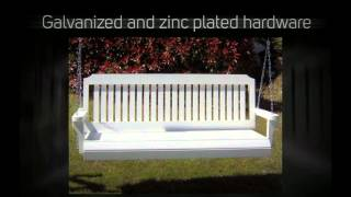 Tmp Outdoor Furniture Traditional White Porch Swing
