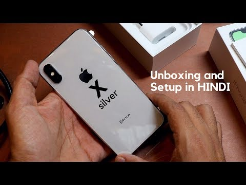 iPhone X silver UNBOXING and full SETUP (256GB) INDIA | HINDI