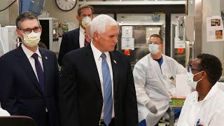 US Vice President Mike Pence ignores face mask rule during hospital visit