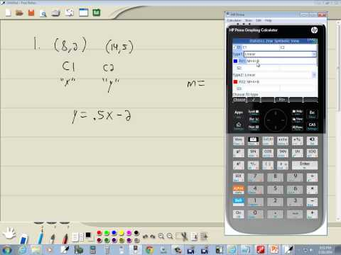 Technology in College Algebra - Linear Equations - Find Slope - HP Prime