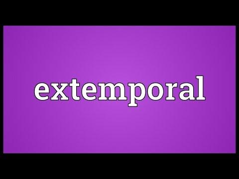 Header of extemporal