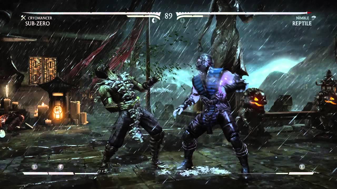 Mortal Kombat X Sub Zero vs Reptile - YouTube