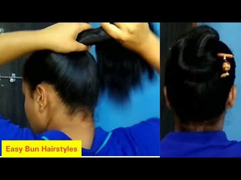 Easy Simple Hairstyle In Oily Hairoiled Hairstyle Oily Hair Bun