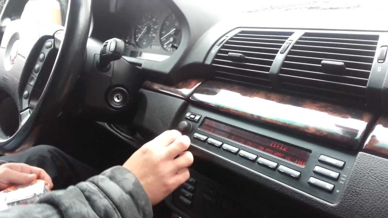hight resolution of how to remove radio bmw x5 e53 1999 2006 or bmw 5 series e39 youtube