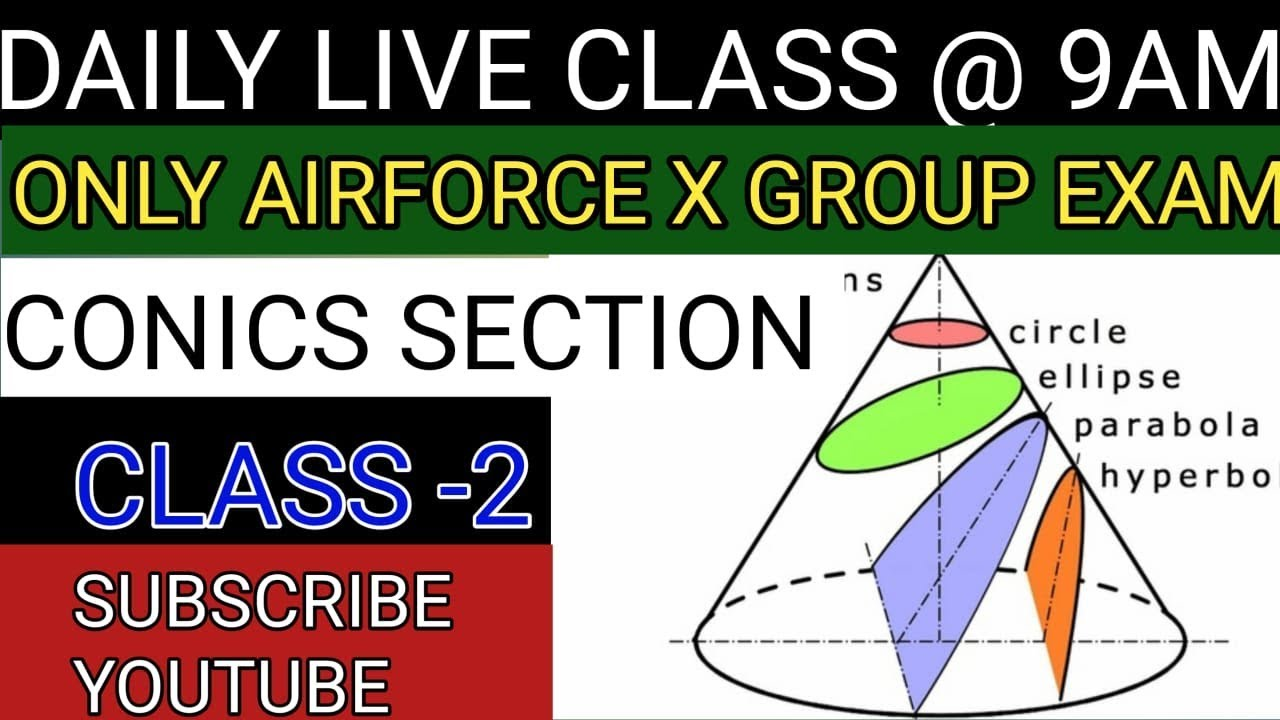 CONICS SECTION CLASS-2 FOR AIRFORCE X GROUP |  NAVY(AA,SSR)| MATHS BY ANKIT AWASTHI