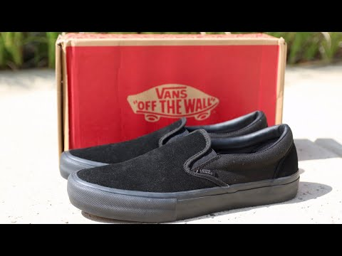 Vans slip on pro unboxing (BLACKOUT) YouTube