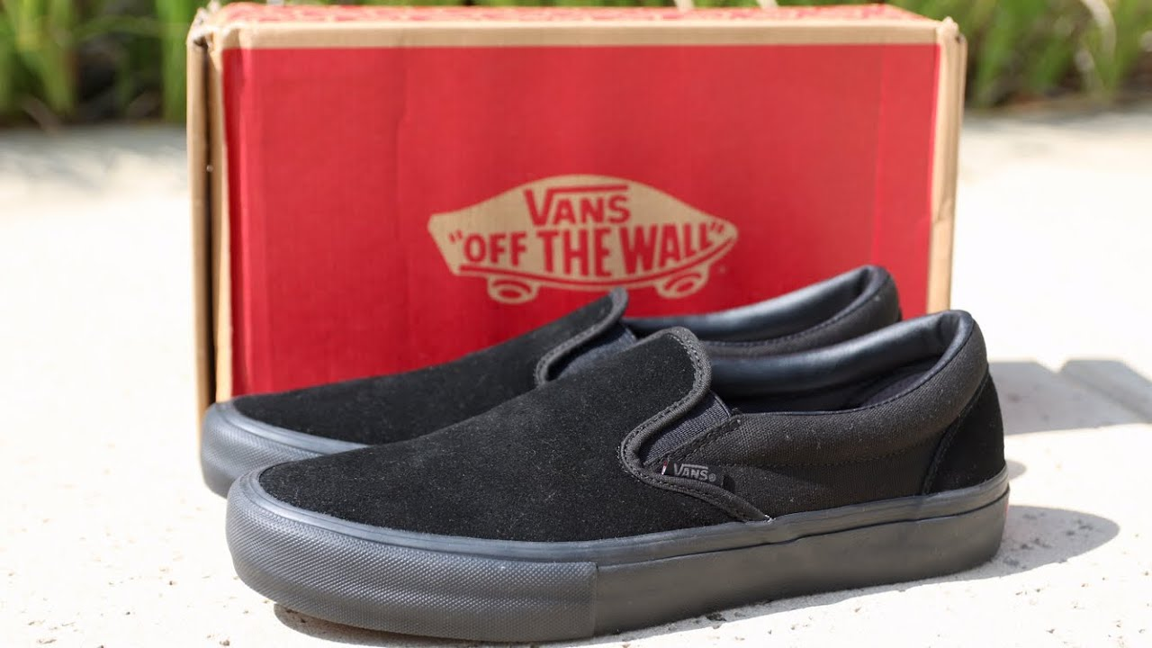 Vans slip on pro unboxing (BLACKOUT)