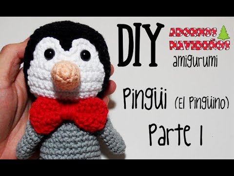 Tutorial Amigurumi Pinguino : Diy pingüi el pingüino parte 1 amigurumi crochet ganchillo